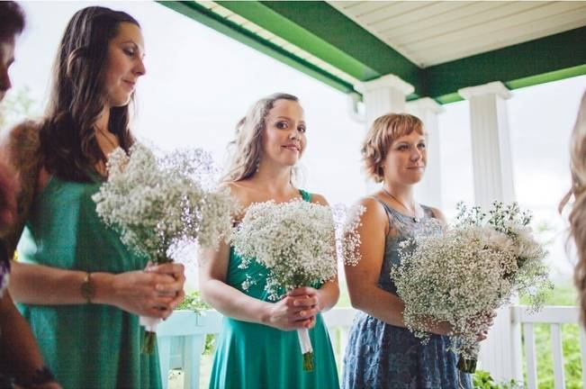 turquoise blue teal bridesmaids