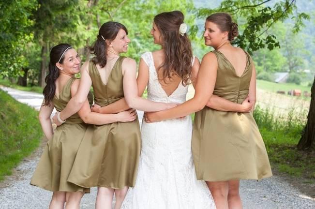 fern green bridemaid dresses