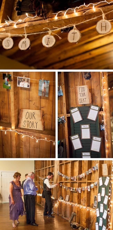 barn lodge wedding decorations