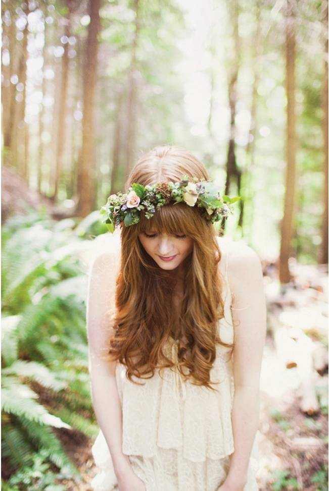 real wedding flower crown