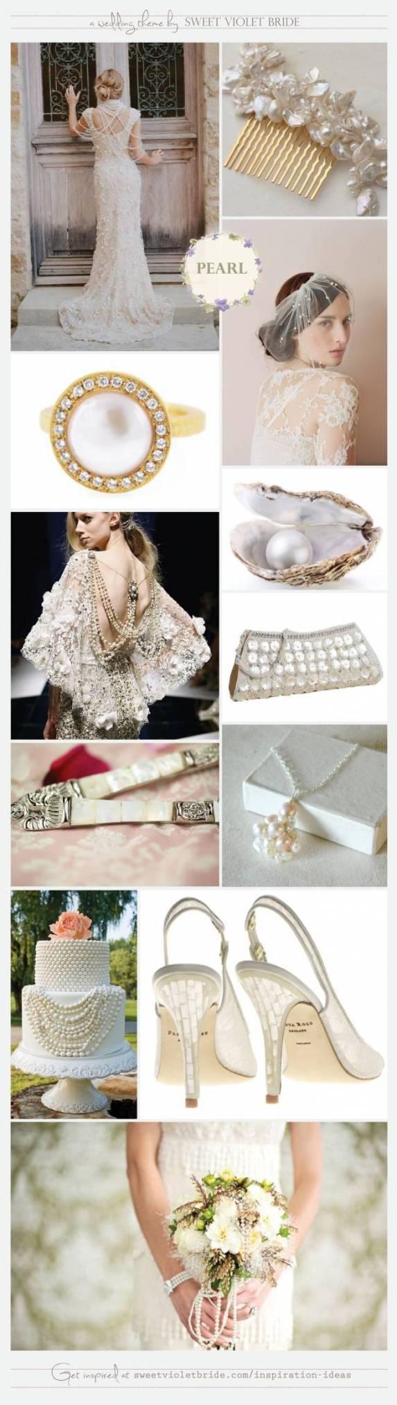 freshwater mother of pearl wedding scheme