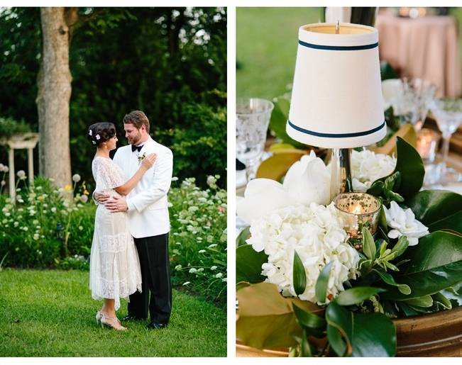 great gatsby style bride and groom