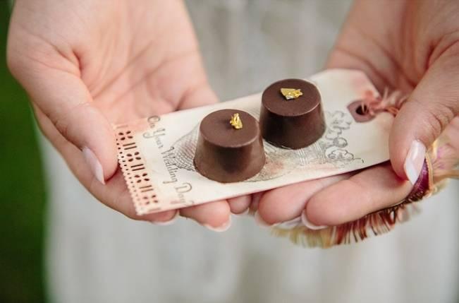 mini truffles wedding favors