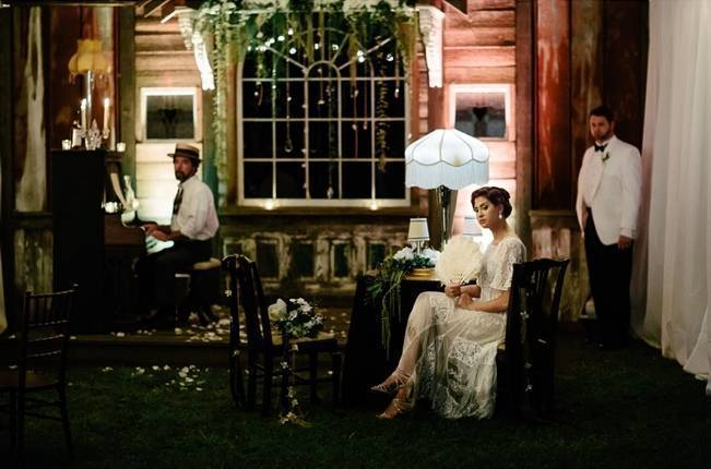 vintage jazz style wedding