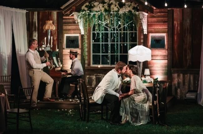 great gatsby style wedding reception