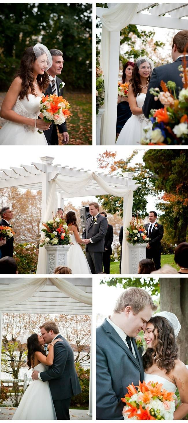 Autumn Wedding at Sea Cliff Manor {Caitlinn Mahar-Daniels Photography}
