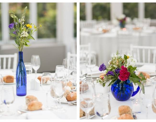 cobalt glass vase centerpieces