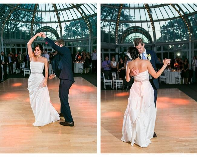 first dance at brookyln botanic gardens greenhouse