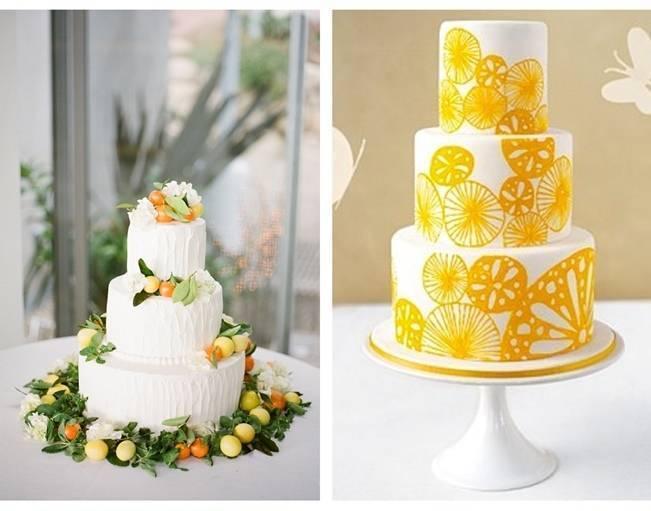 lemon and orange wedding cake