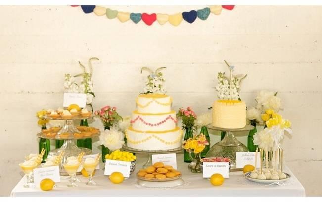 citrus wedding cakes lemon