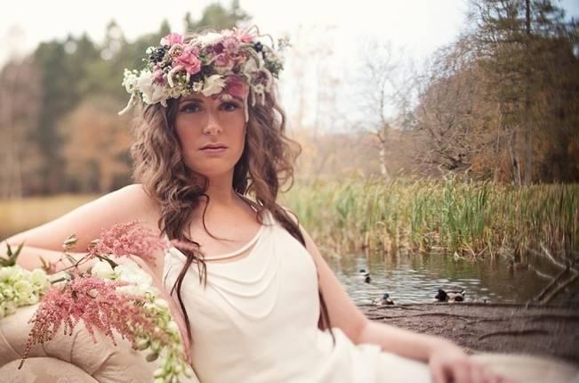 wild woodland flower crown