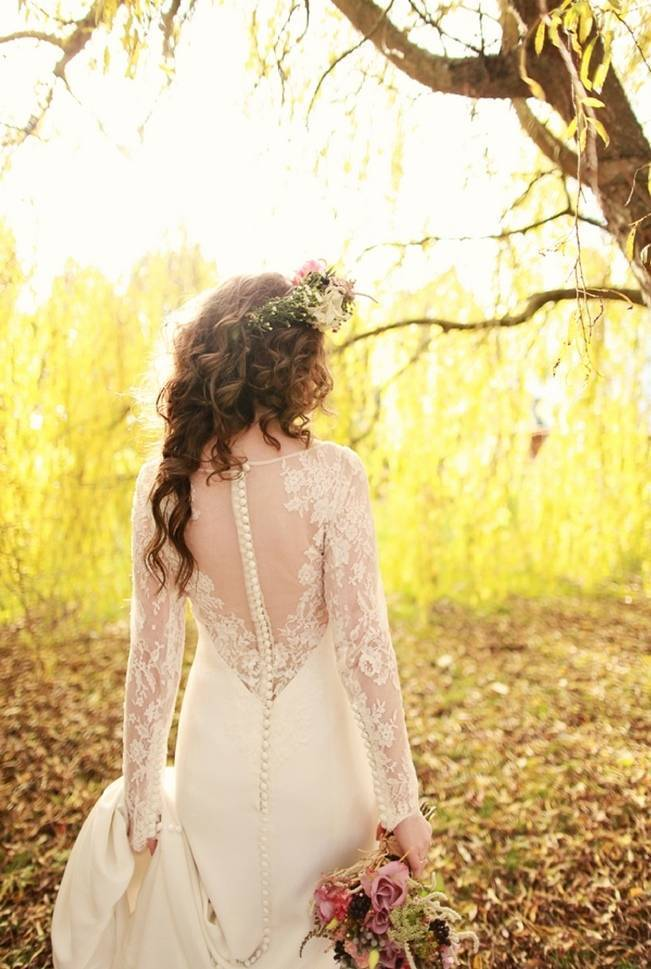 illusion back wedding gown