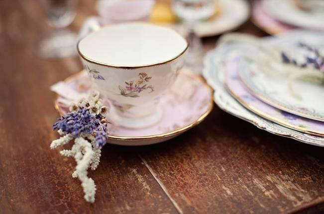 vintage pink floral china