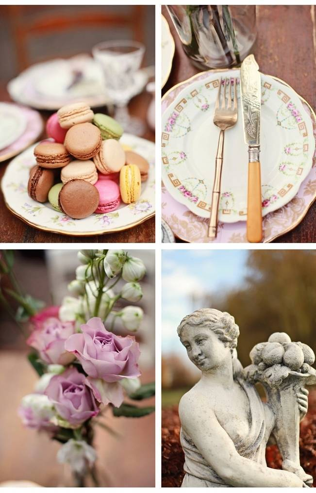 pink and purple vintage wedding