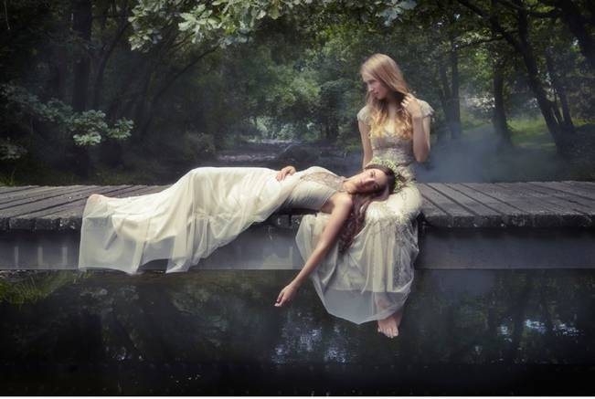 Ethereal Forest Photo Shoot with Gowns by Gwendolynne