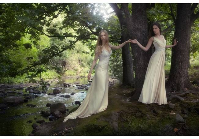 enchanting wedding gowns forest woodland