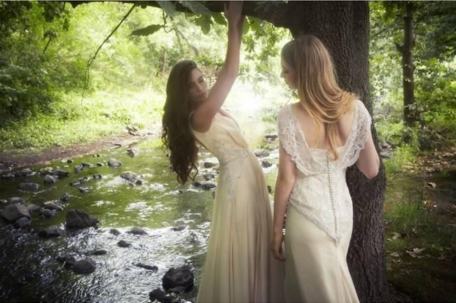 ethereal beaded wedding dress