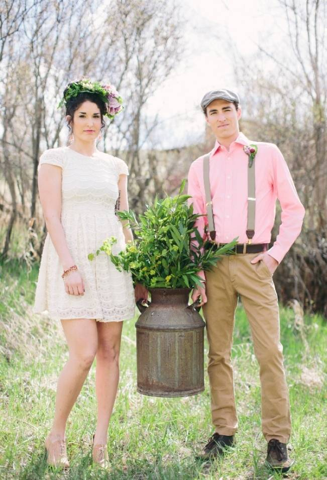rustic garden wedding