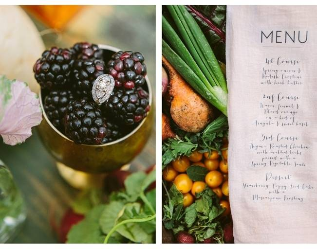 wild garden wedding menu