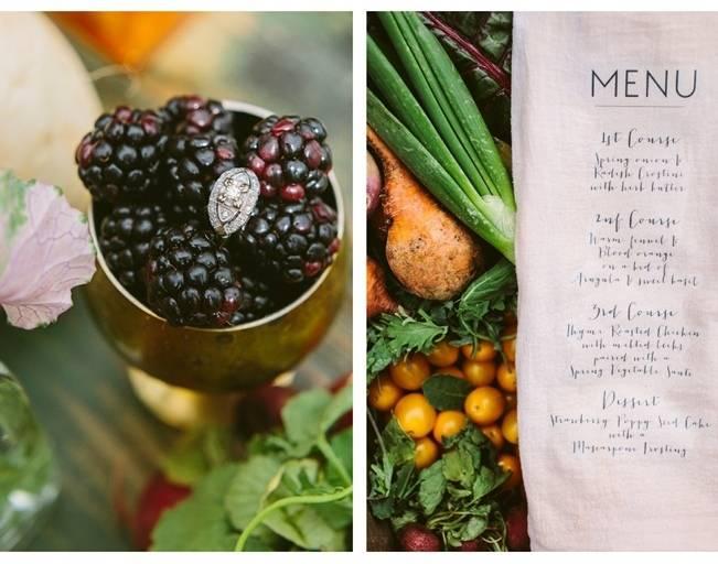 wild garden wedding menu