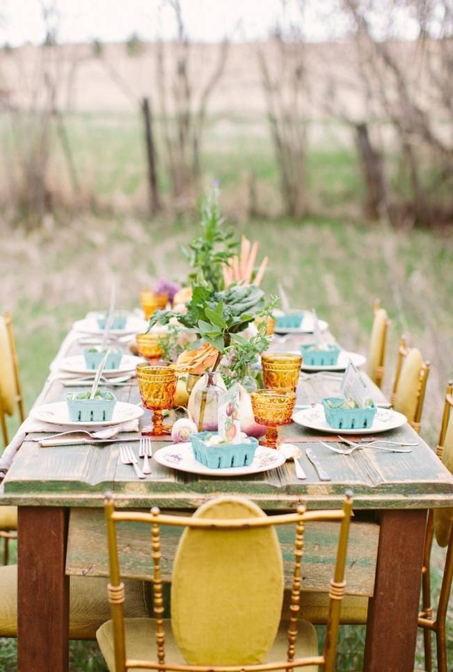 farm and garden wedding table