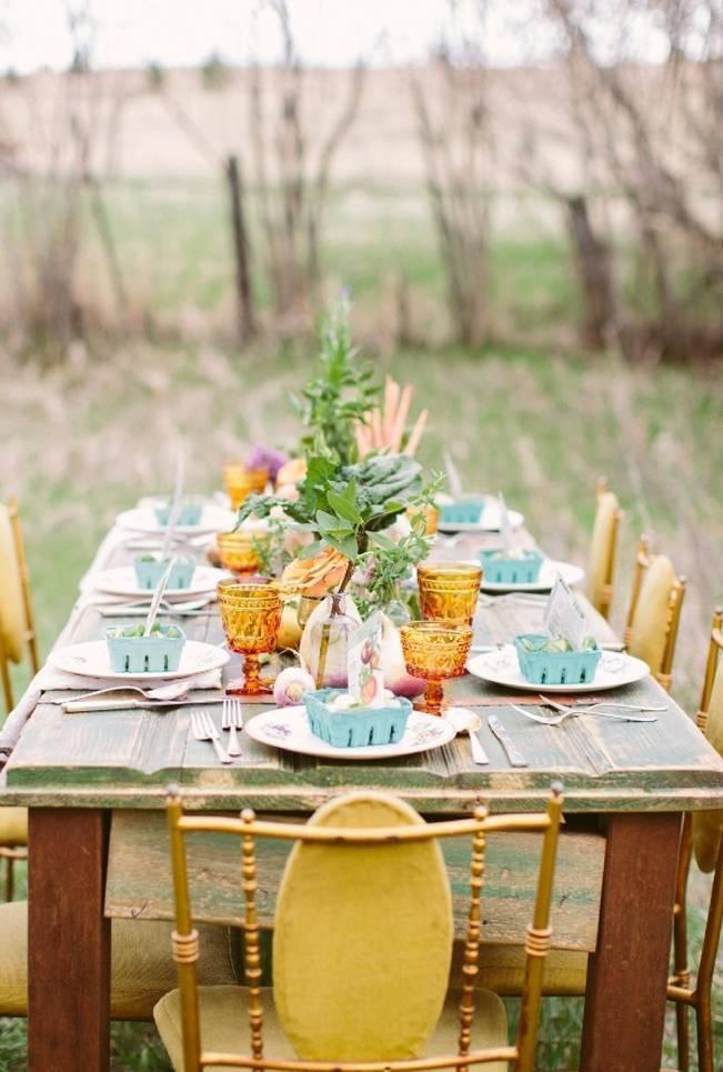 farm and garden wedding table