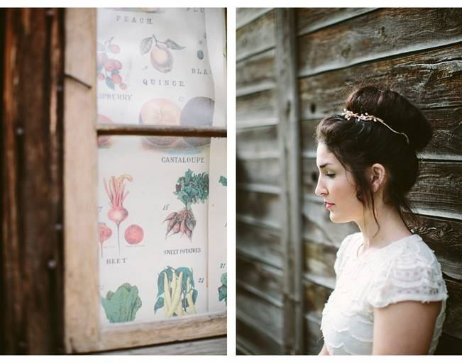 vintage seed packet wedding