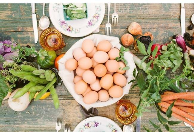 organic farm produce wedding feast