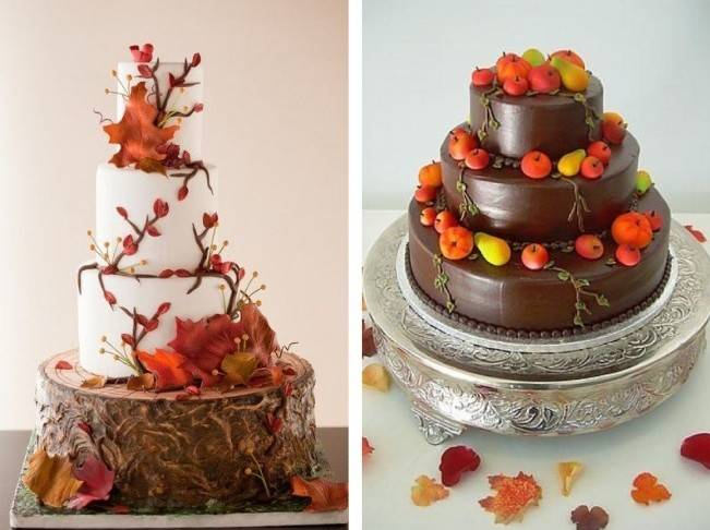 autumn fruit wedding cake