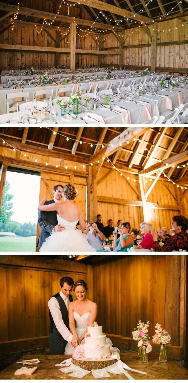rustic barn wedding dance