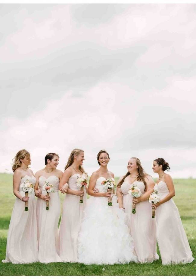 cream colored bridesmaid dresses
