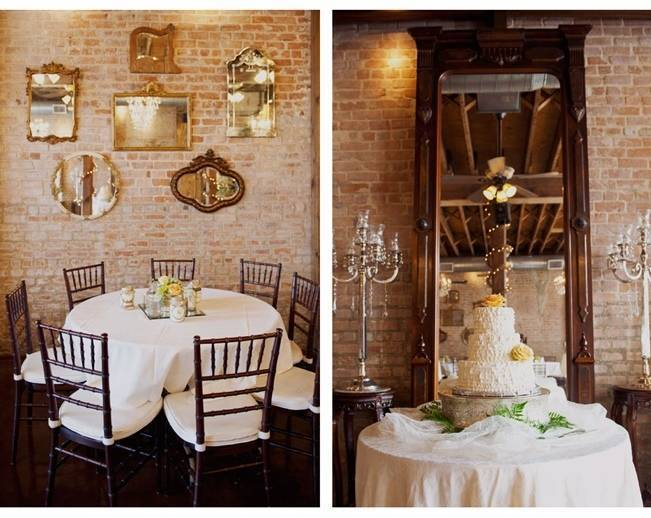 vintage mirrors for wedding wall