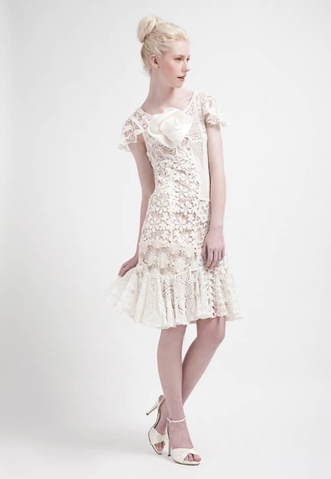 kelsey genna short floral wedding dress boho