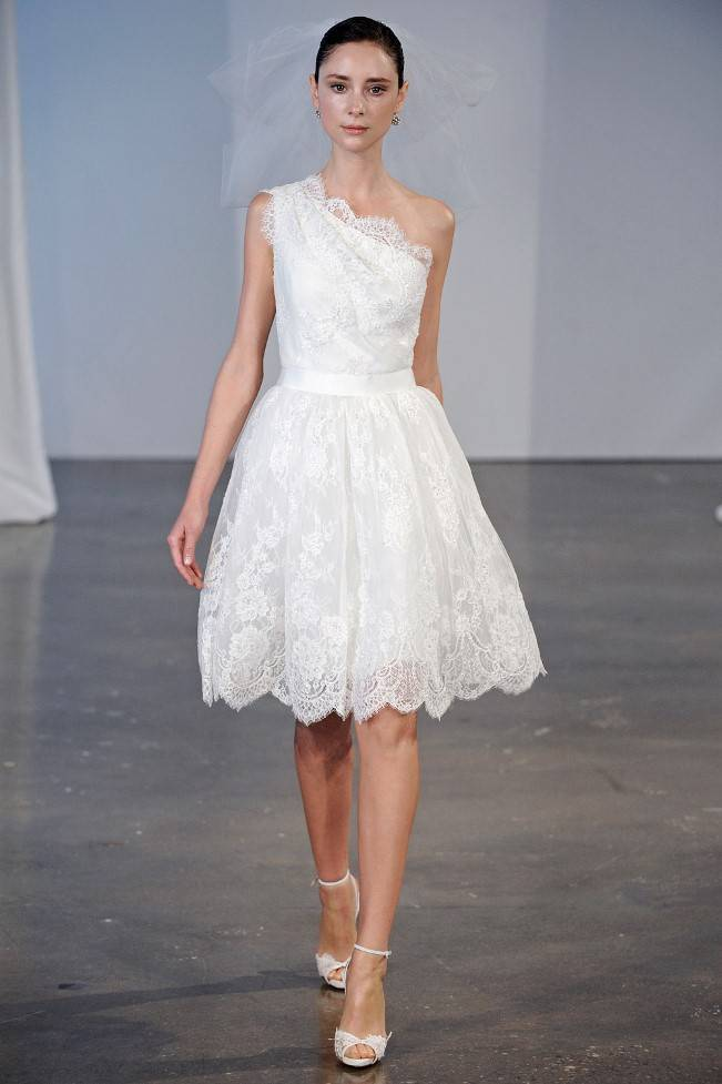 marchesa spring 2014 bridal short lace