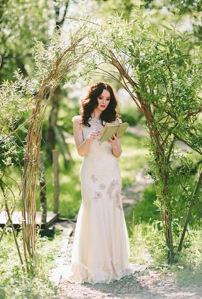 woodland wedding archway