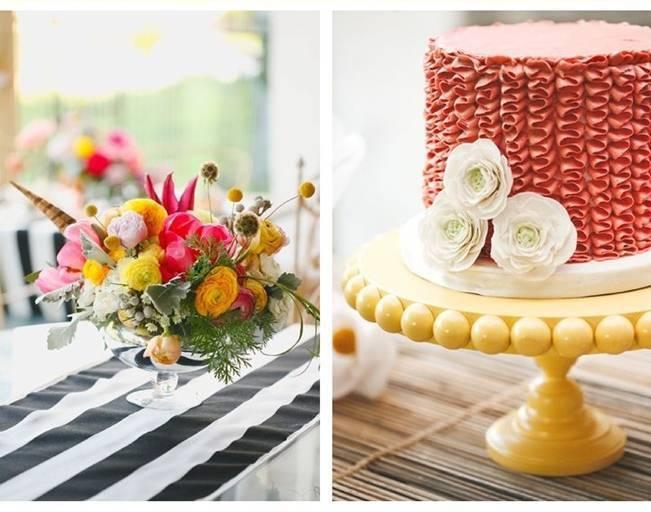 red ruffle cake