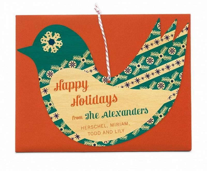 christmas ornament holiday card