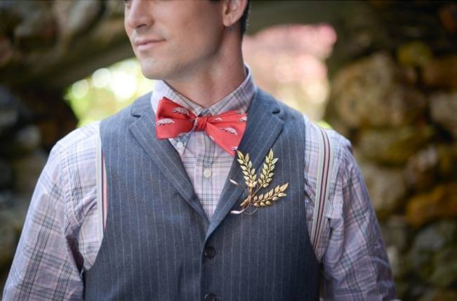 woodland groom with fern boutonniere