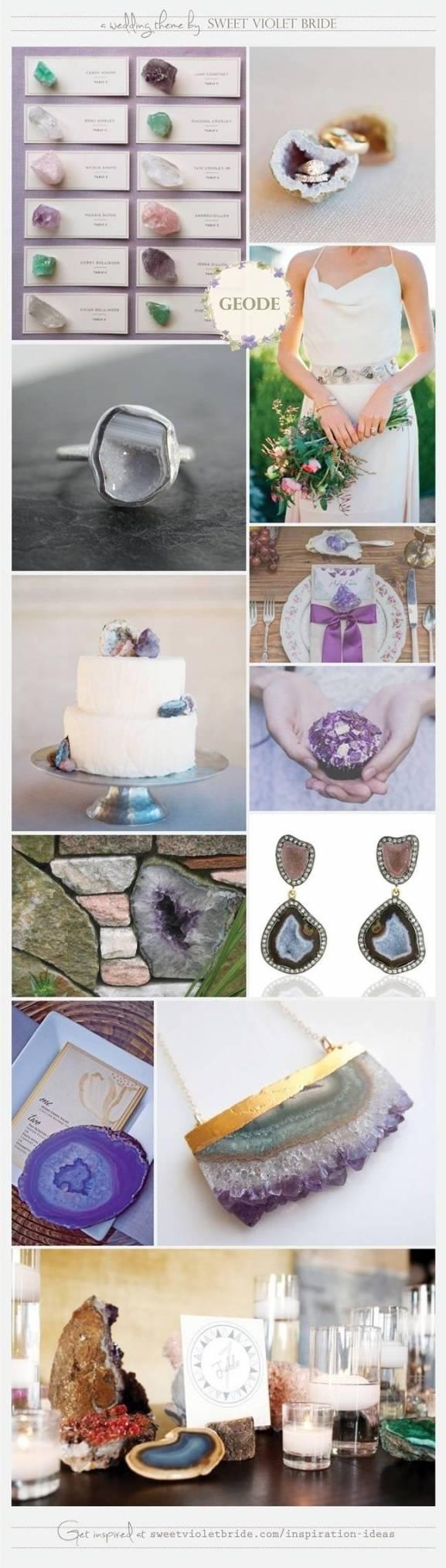 Wedding Inspiration Board #14: Geode