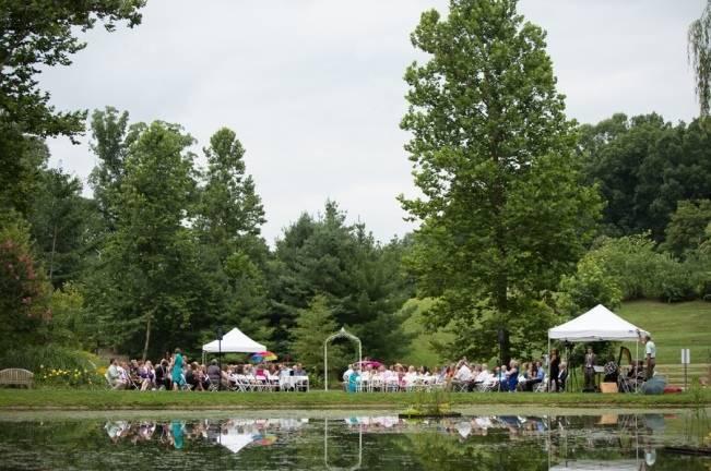 outdoor lake wedding