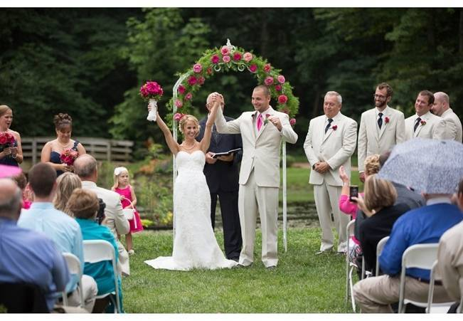 pink rose wedding arbor arch
