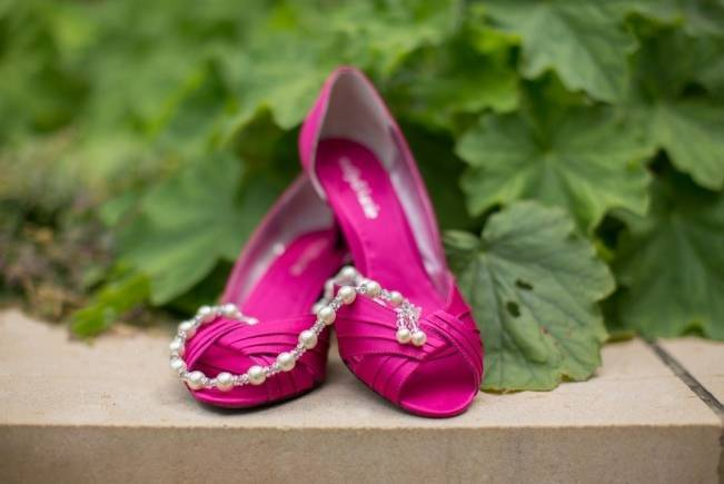 fuchsia wedding shoes