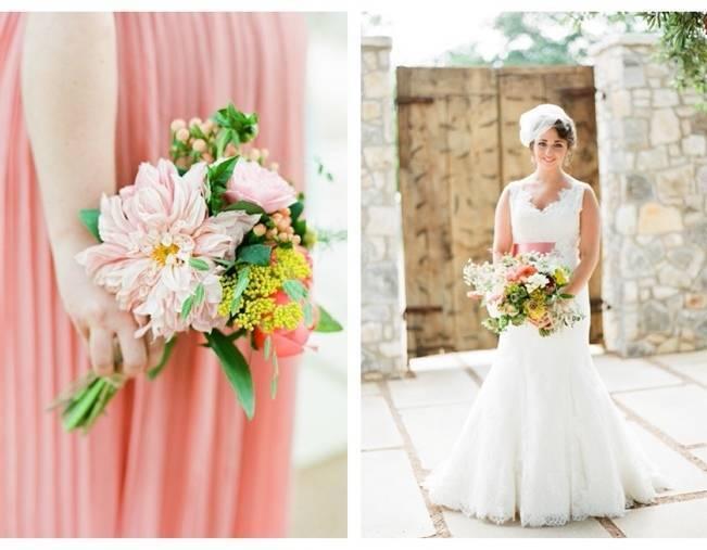 peach bridesmaid