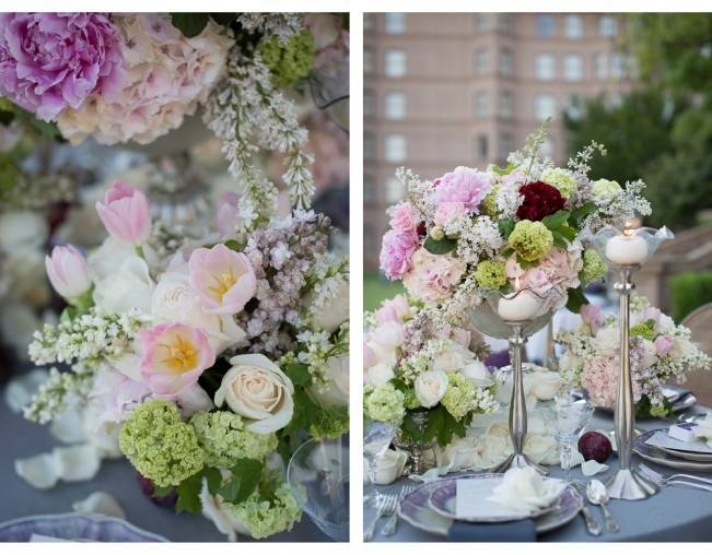 butterfly floral tall centerpieces