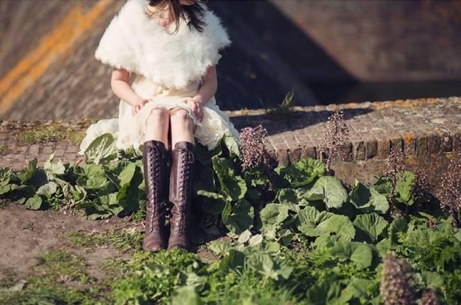 vintage bridal boots