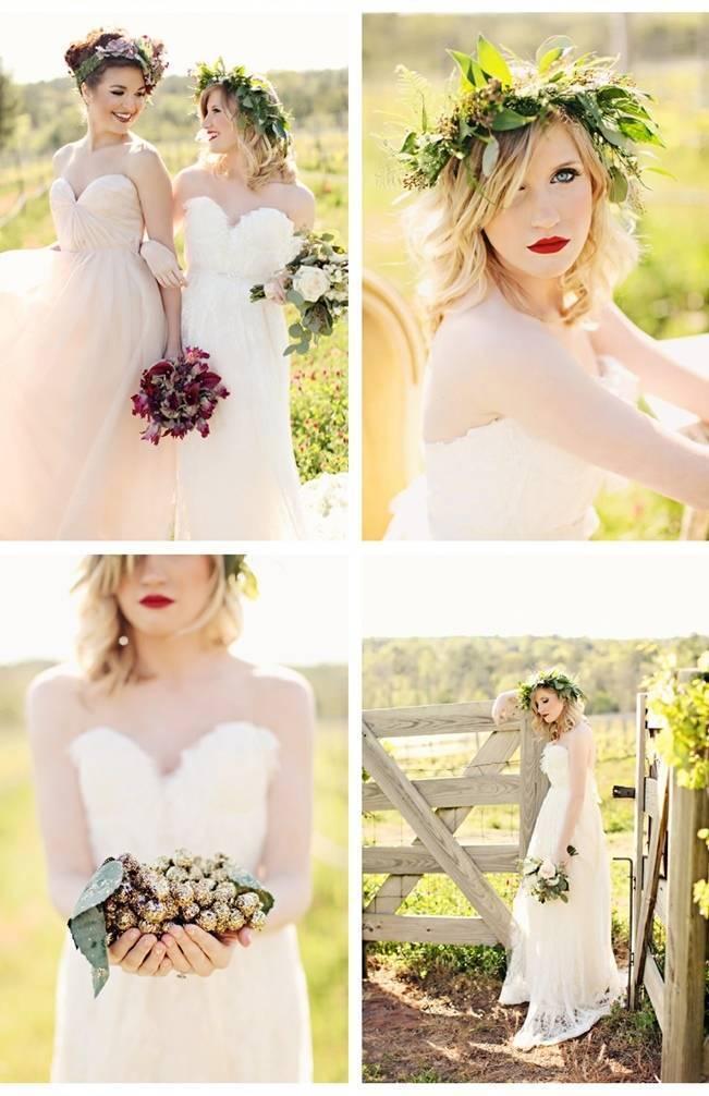 rustic vineyard bride