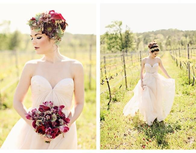 wine colored bouquet