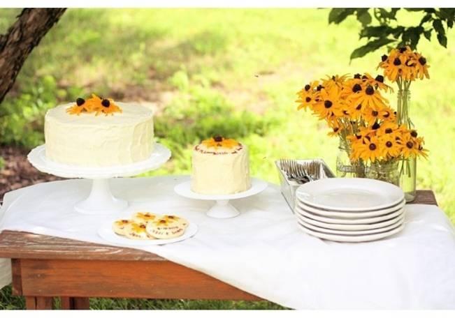 black-eyed susans wedding cake