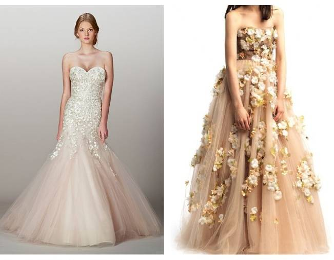 lian carlo and valentino flower gowns