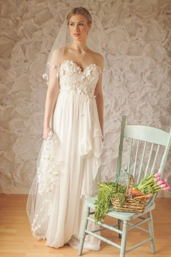 Claire La Faye floral gown